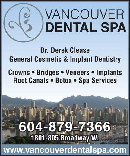 Vancouver Dental Spa (604-879-7366) - Display Ad -