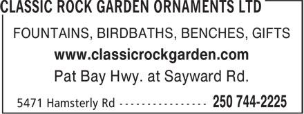 Ads Classic Rock Garden Ornaments Ltd