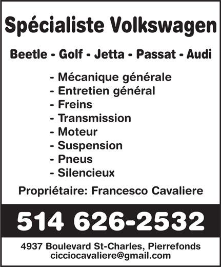 Volkswagen Spécialiste (514-626-2532) - Display Ad -