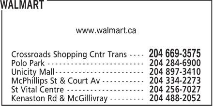 Walmart Supercentre (204-669-3575) - Display Ad - www.walmart.ca
