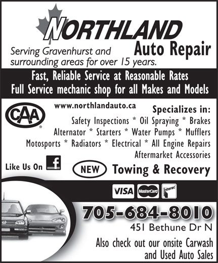 Northland performance auto repair 451 bethune dr n for Northland motor oils lubricants