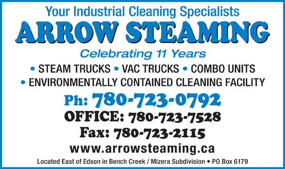 Arrow Steaming (780-723-0792) - Display Ad -