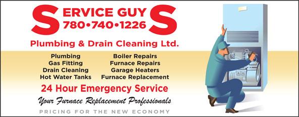 Service Guys Plumbing & Drain Cleaning Ltd (780-865-4817) - Annonce illustrée======= -