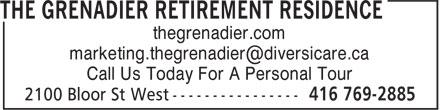 Ads The Grenadier Retirement Residence