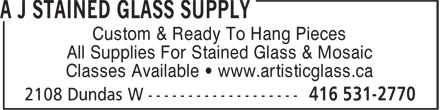 Ads A J Stained Glass Supply