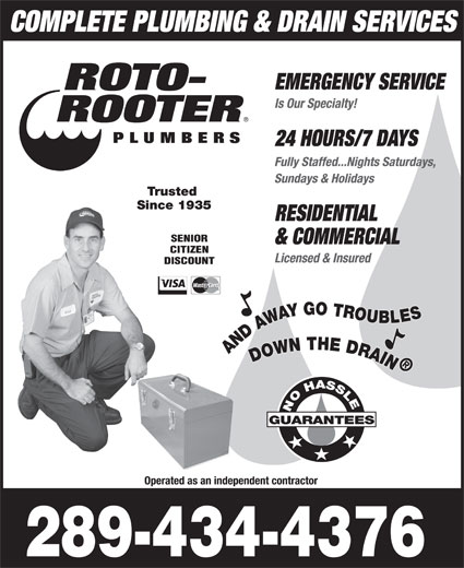 Roto rooter write a review