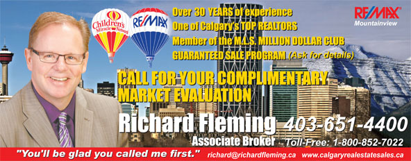 Remax Mountainview - Richard Fleming (403-651-4400) - Display Ad -