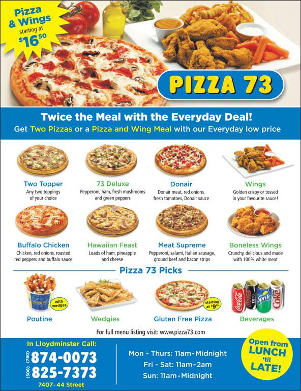 Pizza 73 (306-825-7373) - Display Ad -