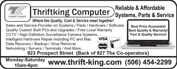 Thriftking Computer (506-454-2299) - Display Ad -