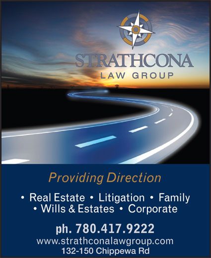 Strathcona Law Group (780-417-9222) - Annonce illustrée======= - 132-150 Chippewa Rd