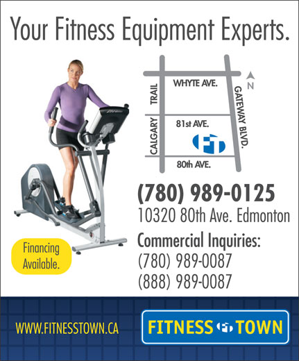 Fitness Town (780-989-0125) - Display Ad -