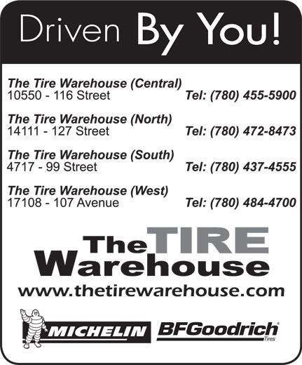 The Tire Warehouse (780-437-4555) - Annonce illustrée======= -