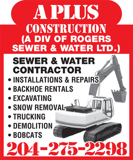 A Plus Construction (204-275-2298) - Display Ad -