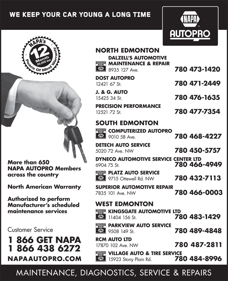 NAPA Autopro (1-866-438-6272) - Display Ad -