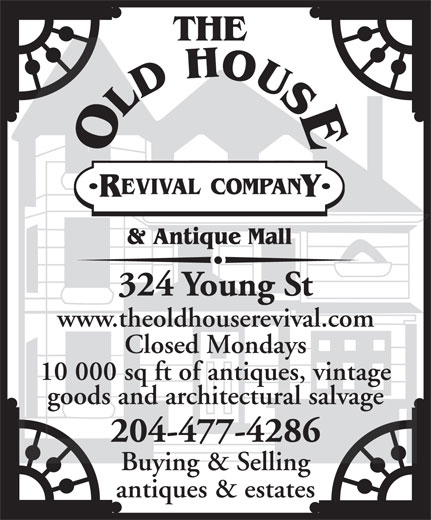 The Old House Revival Company (204-477-4286) - Annonce illustrée======= -