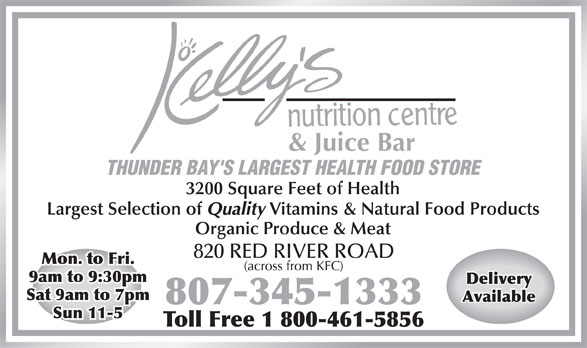 Ads Kelly's Nutrition Centre