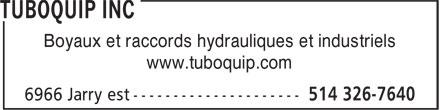 Tuboquip Inc (514-326-7640) - Annonce illustrée======= - Boyaux et raccords hydrauliques et industriels www.tuboquip.com  Boyaux et raccords hydrauliques et industriels www.tuboquip.com  Boyaux et raccords hydrauliques et industriels www.tuboquip.com  Boyaux et raccords hydrauliques et industriels www.tuboquip.com  Boyaux et raccords hydrauliques et industriels www.tuboquip.com  Boyaux et raccords hydrauliques et industriels www.tuboquip.com  Boyaux et raccords hydrauliques et industriels www.tuboquip.com  Boyaux et raccords hydrauliques et industriels www.tuboquip.com