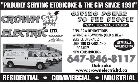 Crown Electric Ltd Oakville On 27 2345 Wyecroft Rd