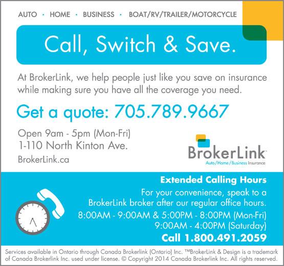 BrokerLink (705-789-9667) - Display Ad -
