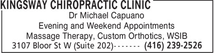 Ads Kingsway Chiropractic Clinic