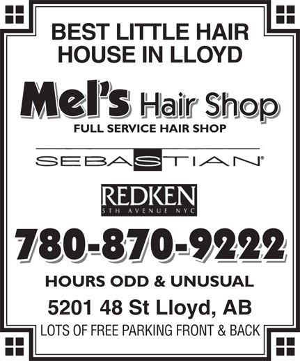 Mel's Hair Shop Ltd (780-870-9222) - Annonce illustrée======= -