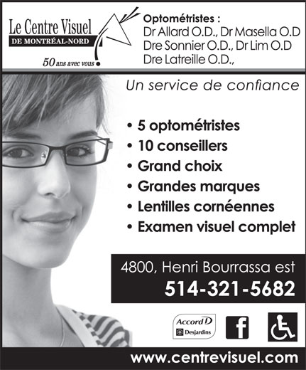 Le Centre Visuel De Montréal-Nord (514-321-5682) - Display Ad -
