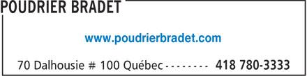 Poudrier Bradet (418-780-3333) - Annonce illustrée======= - www.poudrierbradet.com