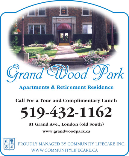 Grand Wood Park (519-432-1162) - Display Ad -