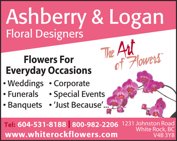 Ashberry & Logan (604-531-8188) - Display Ad -