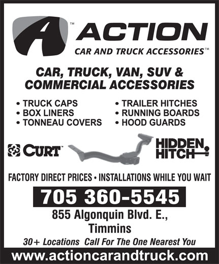 Action Car And Truck Accessories (705-360-5545) - Display Ad -