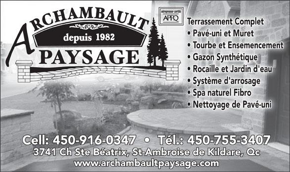 Archambault Paysage (450-755-3407) - Display Ad -