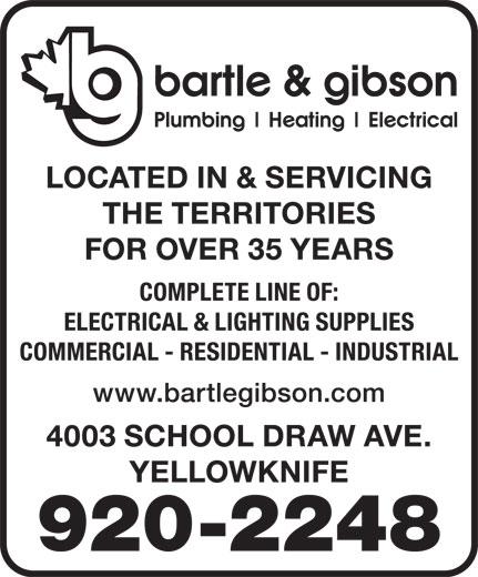 Bartle & Gibson Co Ltd (867-920-2248) - Display Ad -