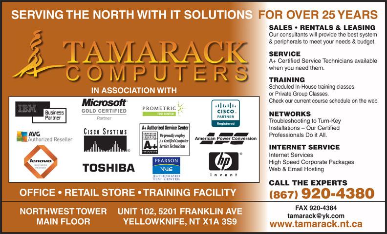 Tamarack Computers (867-920-4380) - Annonce illustrée======= -