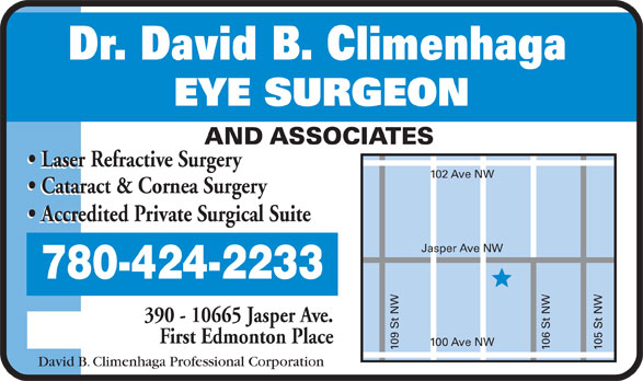 David B Climenhaga (780-424-2233) - Display Ad -