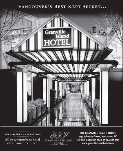 Granville Island Hotel (604-683-7373) - Annonce illustrée======= -