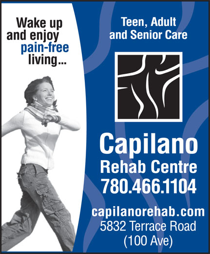 Capilano Rehab Centre (780-466-1104) - Annonce illustrée======= -
