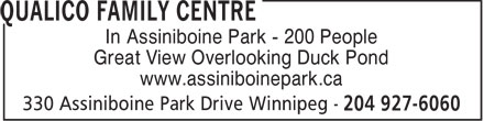 Assiniboine Park (204-927-6000) - Display Ad - In Assiniboine Park - 200 People Great View Overlooking Duck Pond www.assiniboinepark.ca