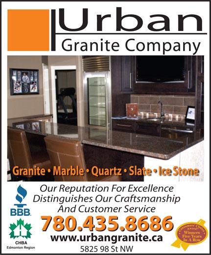 Urban Granite (780-435-8686) - Annonce illustrée======= -