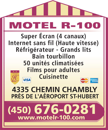 Motel R 100 (450-676-0281) - Display Ad -