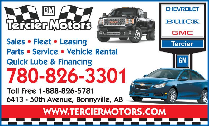 Tercier Motors Ltd (780-826-3301) - Display Ad -