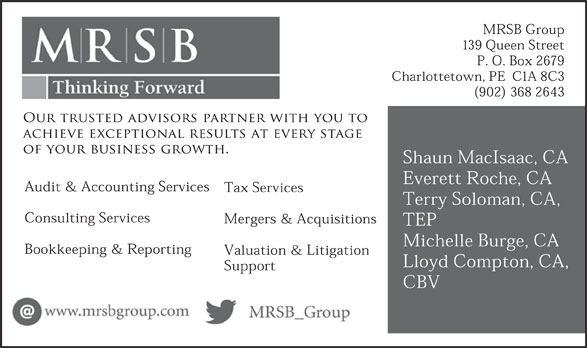 MRSB Chartered Accountants (902-368-2643) - Display Ad -