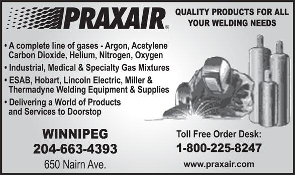 Praxair (204-663-4393) - Display Ad -