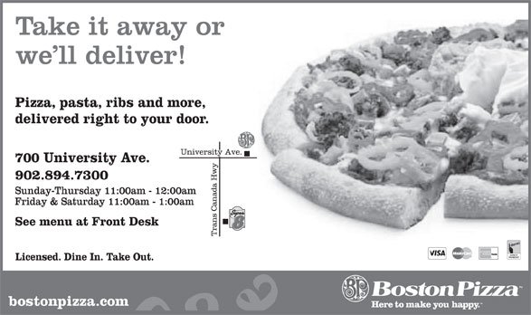 Boston Pizza (902-894-7300) - Annonce illustrée======= -