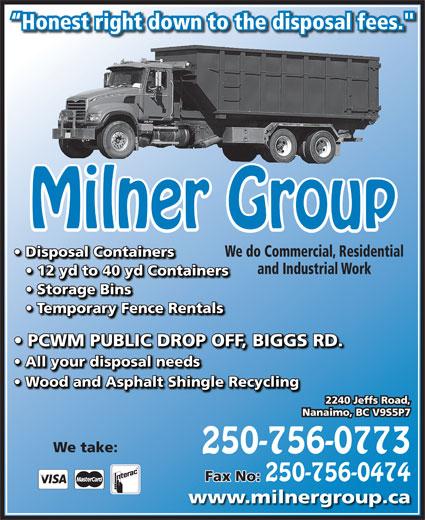 Milner Group Ventures Inc. (250-756-0773) - Display Ad -