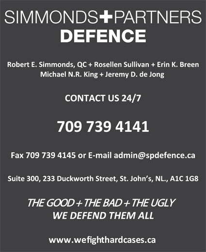 Simmonds+Partners Defence (709-739-4141) - Display Ad -