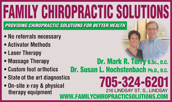 Family Chiropractic Solutions Lindsay On 216 Lindsay