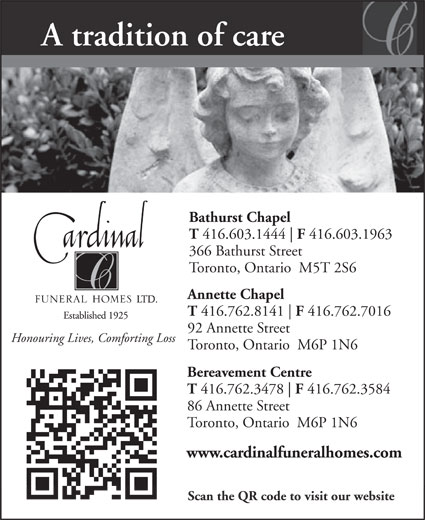 Cardinal Funeral Home  Bathurst Street