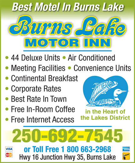 Burns Lake Motor Inn 149 16 Hwy W Burns Lake Bc