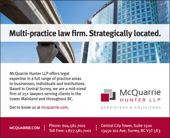McQuarrie Hunter LLP (604-581-7001) - Annonce illustrée======= -