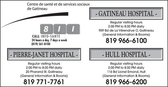 Centre de Santé et de Services Sociaux de Gatineau (819-966-6100) - Display Ad -